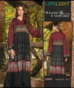 Authentic LIMELIGHT Winter Collection'19 unstitched KHADDAR kurta 2 FOR £28!!