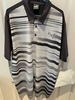 Puma Cool Cell Golf Men's Black  / Grey Polo Shirt Size UK XL US L Style 569098