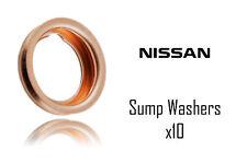 Nissan Micra Qasqhai Juke Primera Xtrail 100 NX Sump Washer X 10