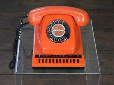 altes Telefon Wählscheibentelefon 70er Jahre Orange Post Wählscheibe Vintage
