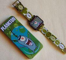 "WATCH Original Spongebob Squarepants ""PLANKTON"" 2004 Collectible Burger King NIB"