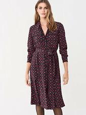 NWT £432 DIANE VON FURSTENBERG Antonette Silk Crepe De Chine Midi Shirt Dress S