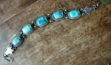 Egyptian revival ceramic scarabs lotus bracelet