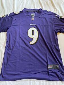 Baltimore Ravens Purple Justin Tucker #9 Men's Jersey Size Large stitched