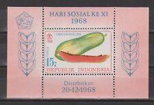 Indonesia Indonesie nr 630 blok sheet B13 MNH PF 11e Sociale Dag 1968