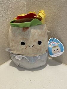 """New Burrito Bernardo Squishmallow 8"""" NWT New Release"""