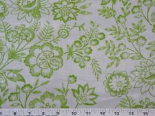 Cyrus Clark High Glaze Cotton Chintz Floral  Lime Green