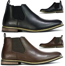 MENS CHELSEA BOOTS DEALER ANKLE SMART WORK OFFICE PARTY CASUAL SLIP ON SHOES SZ