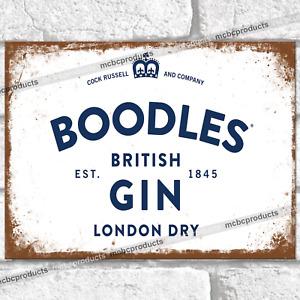 BOODLES Gin Logo Metal Signs Bar Pub Mancave Wall Plaque Garage Shed Tin Sign UK