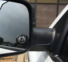 Dodge Ram Head Etched / Frosted Look Mirror Glass Decal Stickers ~ Set Of 2