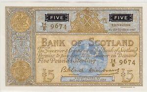 P103 Banco De Escocia 1961 en Cuenta En Perfecto Estado