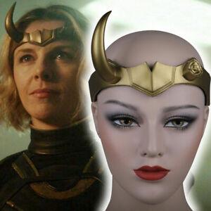 Cosplay Female Loki Helmet Horns Headpiece Superhero Costume Props Headwear