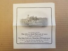 VINTAGE AGRICULTURE ADVERTISING. EARLY 1900'S. BROCHURE.