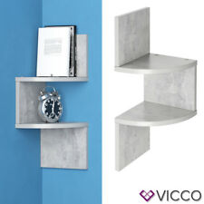 VICCO Eckregal SNAKE KLEIN Beton Optik Hängeregal Wandregal Bücherregal Regal