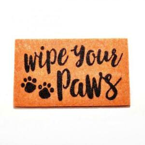 """Dolls House """"Wipe Your Paws"""" Door Mat Miniature Hall Step Accessory 1:12 Scale"""