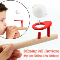 Kids Wooden Toys Nostalgic Gadgets Fun Wooden Pipe Balance Blowing Ball Toys