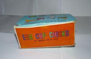 Vintage Boxed Set of Plastic Egg Cup Chicks