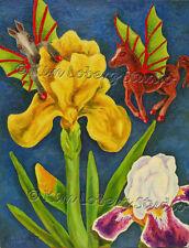 Iris Horse demon Fairy fae Pony Fly EBSQ Loberg Fantasy Art + free ACEO Print
