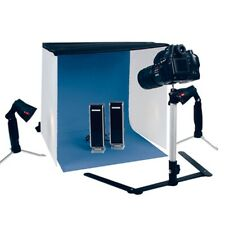 MINI STUDIO PHOTO KIT COMPLET FOTO STUDIO BOITE 2 LAMPES SUPPORT CAMERA ETUIT