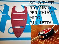 TASTI GOMMINO RICAMBIO PER CHIAVE TELECOMANDO ALFA MITO GIULIETTA BORDEAUX