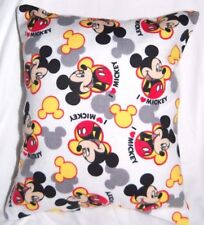 NEW  DISNEY HANDMADE MICKEY MOUSE I LOVE MICKEY  FLANNEL TODDLER TRAVEL PILLOW