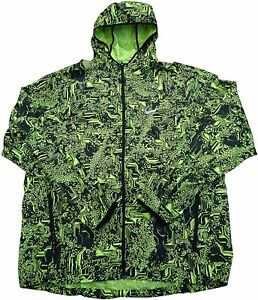 Nike Shield Mens Printed Hooded Lightweight Running Jacket 800494