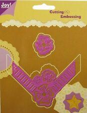 Joy Crafts Die Cutting Embossing Stencils Ruban Coin avec fleur 6002/0041