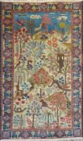 "Stunning C 1900 Antique Hand Knotted Exquisite Rug 2' 9"" x 4' 5"""