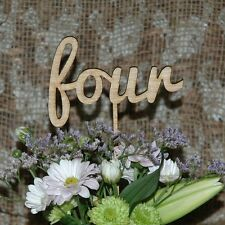 Rustic Wooden Table Numbers, Wedding Celeration Reception - Premium Quality