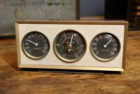Vintage 1950s 60s AIRGUIDE BAROMETER Thermometer Desk Top Weather Station Gauge