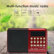 Portable Digital FM Radio Mini Pocket Walkman Receiver Stereo Support Earphones