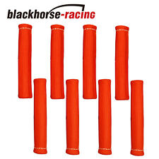 8 PCS 1800° Spark Plug Wire Boots Heat Shield Protector Sleeve SBC BBC Red