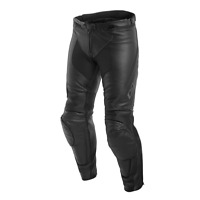 Dainese Assen Leather Pant Black Anthracite Leather Motorcycle Trousers NEW