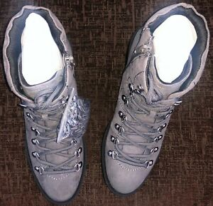 New Look Women's Dabble 2-Ic SDT Lace DTL Ankle Boots Grey Mid Grey 4 UK 7 EU 40