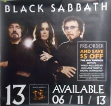"Black Sabbath Ozzie Osbourne ""13"" 122x122cm Rare HMV Promo Heavy Duty Poster"