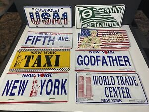 Novelty License Plate Lot Chevrolet USA 1 New York World Trade Center Fifth Ave