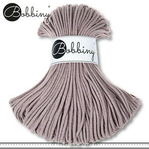 Bobbiny 100 m Flechtkordel 3 mm | Pearl | Basteln Baumwolle Hobby PREMIUM