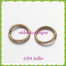 6mm 100pcs Antique Brass Bronze Jump Rings Jewelry Findings Open Split Earrings