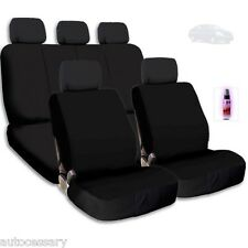 New Black Cloth Car Seat Covers Support Split Rear Seat With Gift For Nissan