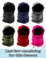 Adult Mens / Ladies Fleece Balaclava | Hooded Snood, Neck Warmer, Face Covering