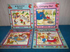 THE BUSY WORLD OF RICHARD SCARRY X 4 (1994/6) - HILDA HIPPO'S TEA PARTY, CAMPING