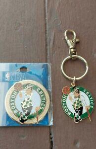 NBA Boston Celtics Gold Toned Keychain Keyring & Magnet Lot Peter David 2002