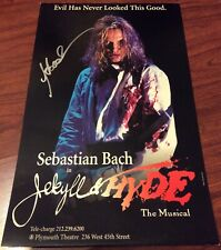 SEBASTIAN BACH JEKYLL & HYDE SIGNED SIGNED POSTER SKID ROW