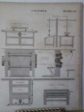 Vintage Print,CALENDAR,Plate 108,Edinburgh Encyclopedia,c1800