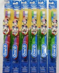 6 Oral-B Extra Soft Toothbrush Disney Minnie, Mickey Mouse,2-4 Year Old