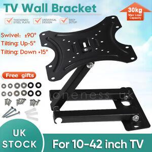 10 to 42 Inches Tilt Swivel TV Wall Bracket Motion Mount For LED LCD Plasma TV