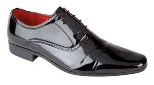 Mens Shiny Faux Leather Brogue Work Office Wedding Shoes Size 6 7 8 9 10 11 12