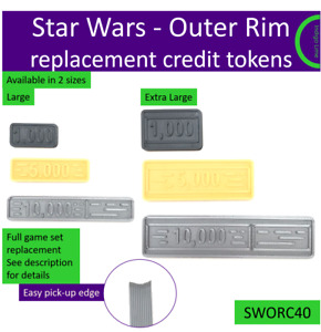 Star Wars Outer Rim credit tokens oversized 3D printed. Made in the UK by us
