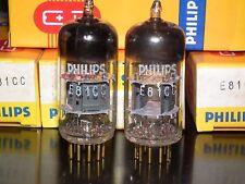 Mullard E81CC (ECC81 12AT7) NOS matched pair (Made in 1968) Gold Pins Philips