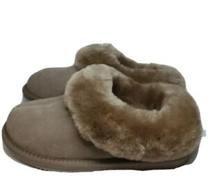 PR# Sheepskin Womens Clogg Slippers Mink SIZE UK 4